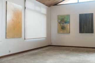 Martin Pelenur: Cracked Surfaces & Tape, installation view