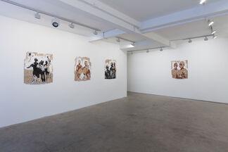 Armand Boua, Enfants de la Rue, installation view