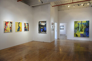 Peter Ramon - Inherent Collisions and Michael Angelis - Collective Memories, installation view