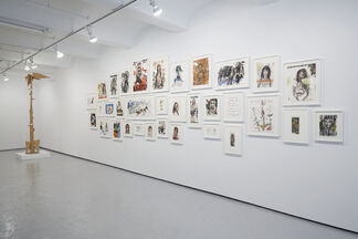 Brad Kahlhamer: Fort Gotham Girls + Boys Club, installation view