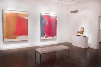 Michael Forster Out of Mexico and Carl Holty 1960's Color Field, installation view