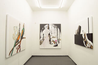 """Opening """"All The Artificial Barriers"""" by Gerard Ellis at Lyle O. Reitzel Gallery NY, installation view"""