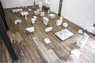 Max Lamb - Man, Rock, Drill, installation view