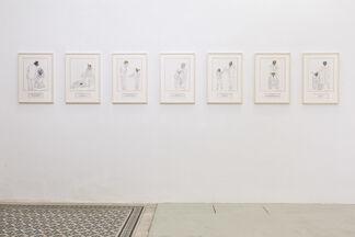 DEBORAH SENGL. On Human Relations  (d'après Adolph Freiherr Knigge), installation view