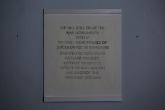Robert Montgomery - ALL KINGDOMS SMASHED AND BURIED IN THE SKY, installation view