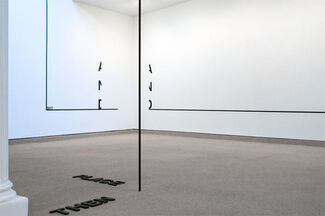 Peter Downsbrough, installation view