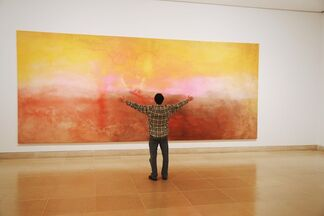 Frank Bowling: Map Paintings, installation view