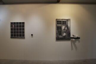 Cătălin Petrișor:The Illusion of Depth - painting, wall drawing & installation, installation view