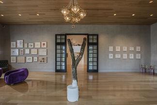 Joe Bradley, Oscar Tuazon, Michael Williams, installation view