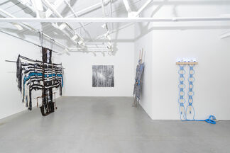 O! 'darkly, deeply, beautifully blue,' As some one somewhere sings about the sky, - Lord Byron, Don Juan, 4.110, installation view
