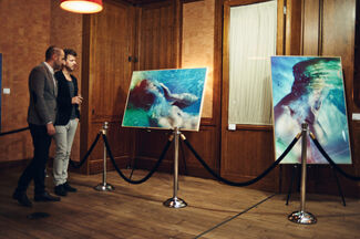 """""""Under Water"""" by Susanne Stemmer at Cipriani Wall Street, installation view"""
