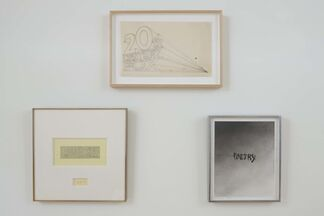 Nice, Hot Vegetables: Ed Ruscha Works on Paper, installation view