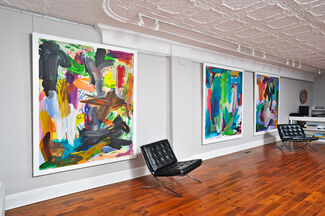 Re-Mastered: Paintings by Bob Knox, installation view