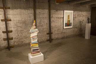Clintel Steed, Painting with Leonid Lerman (Sculpture), Jane Culp, Alix Bailey, and Margaret Grimes (all painting), installation view