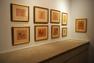 Edward Hopper's caricatures: At Home with Ed and Jo, installation view