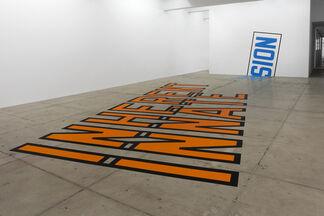 Lawrence Weiner   INHERENT INNATE TENSION, installation view