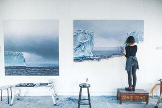 Zaria Forman: Antarctica, installation view