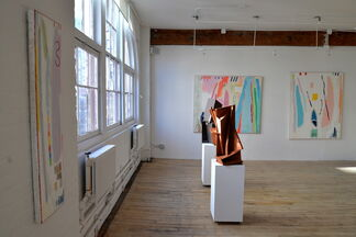 Recent Work by Mike Filan, Judy Glasser, and Mitchell Lewis, installation view
