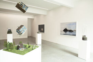 Dream No Small Dreams - The Miniature Worlds of Adrien Broom, Thomas Doyle & Patrick Jacobs, installation view