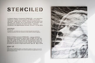 STENCILED, installation view