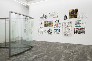 Raymond Pettibon | A Selection by Dan Graham, installation view
