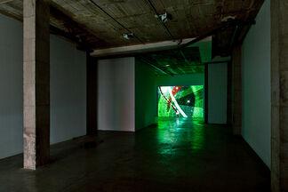 Jennifer West - Terazzo Floor Spiral Film, installation view