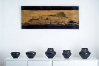 Simon J Harris 'Electric Cherry Blossom' Solo Exhibition, installation view
