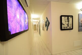 """""""Beyond the Canvas... Man"""", installation view"""