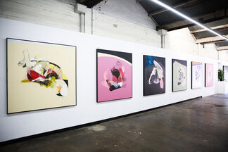 New Paintings by Caleb Reid, installation view