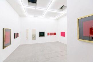 """Enlivening Red Velvet Heart"" Salt Crystal Art Collection, installation view"