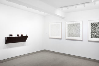 SEGMENTS Features works by three artists: Sol LeWitt, Giulio Paolini and Haim Steinbach., installation view