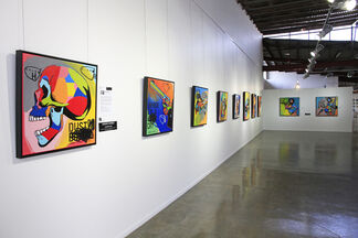 Paintings by Johnny Romeo, installation view