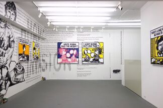 """.. AIN'T NO FUN !!"" by Mark Drew, installation view"