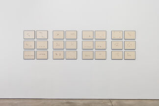 Barry Le Va: Cleaved Wall, installation view