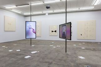 Gallery Weekend Berlin: Florian Meisenberg - Somewhere sideways, down, at an angle, but very close, installation view