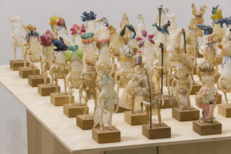 Emily Sudd: Cabinet Pieces, Vanessa Y Chow: Tea Warriors, Alexandra Rose: Where You're Going, installation view