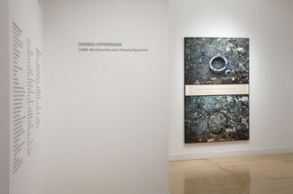 Dennis Oppenheim 1968: Earthworks and Ground Systems, installation view