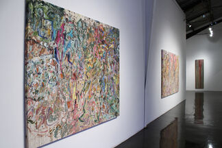 Ed Moses & Larry Poons: The Language of Paint, installation view