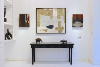 WENSEN QI - Lacquer and Paintings on Rice paper, installation view