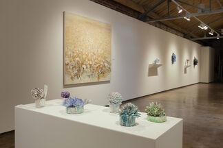 Rebecca Cuming | XXI Century FIELD and David Hicks | Stone Flora & Blue Cuttings, installation view
