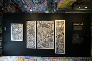 Time's Funeral: Drawings and Poems by Justin Duerr, installation view