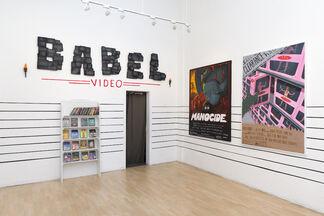 "Woodrow White: ""Babel Video"", installation view"