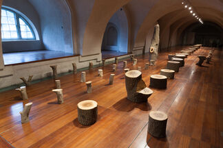 'My Grandfather's Tree' by Max Lamb, installation view