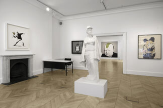 Banksy, Greatest Hits: 2002-2008, installation view