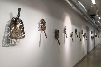 DENICE BIZOT: Walking the Edge of Paradoxical Fragility at BrassWorks Gallery, installation view