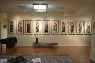 Munakata and the Disciples of Buddha, installation view