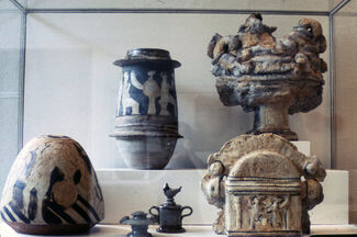 Ceramics by Viola Frey and Peter Layton at Art Institute of Chicago, installation view