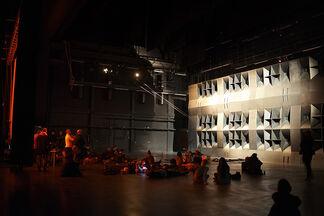 Volkspaleis with One Mind in A Million Heads by Konrad Smoleński, installation view