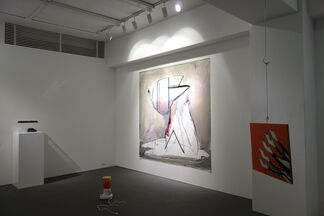 """""""The Big Tree and Giant Woodpecker"""", installation view"""