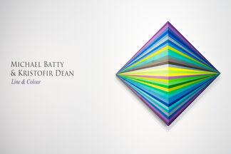"Michael Batty & Kristofir Dean - ""Line & Colour"", installation view"